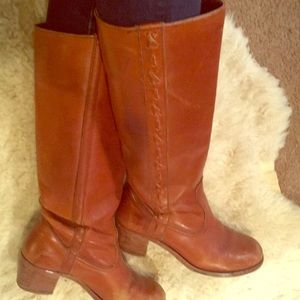 Vintage 1970's tall leather boots